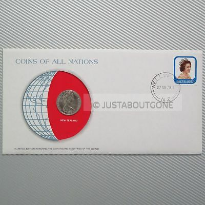 New Zealand 10 Cents 1978 Fdc Unc Coins Of All Nations Uncirculated Stamp Cover