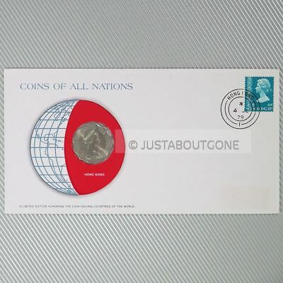 Hong Kong 2 Dollar 1975 Unc Coins Of All Nations Uncirculated Stamp Cover Fdc