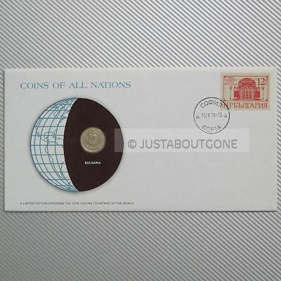 Bulgaria 10 Stotinki 1974 Fdc Coins Of All Nations Uncirculated Stamp Cover Unc
