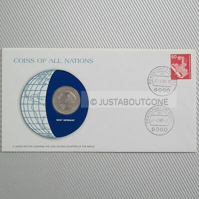 West Germany 2 Mark 1978 Fdc Unc ─ Coins Of All Nations Uncirculated Stamp Cover