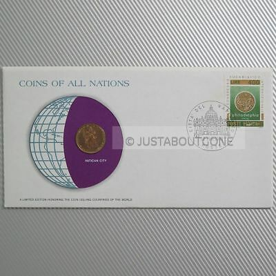 Vatican City 20 Lire 1977 Fdc Unc Coins Of All Nations Uncirculated Stamp Cover
