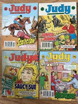 Vintage Judy  Picture Story Library Comic Books x 4