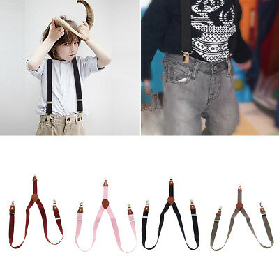 3 Clip Adjustable Shirts Kids Suspenders for Baby Boys Girls Webbing Suspenders