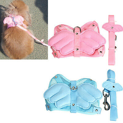 Adjustable Angle Wing Rabbit Ferret Pig Harness Leash Lead Strap Nylon