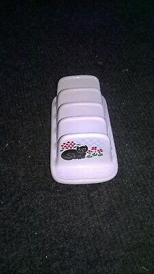 Rare Vintage Retro Ceramic Toast Rack By Sadler With Black Cat Design