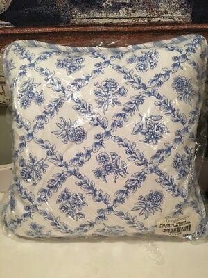 "Longaberger Cottage Trellis Vintage Ticking 17"" Throw Pillow New in Plastic"