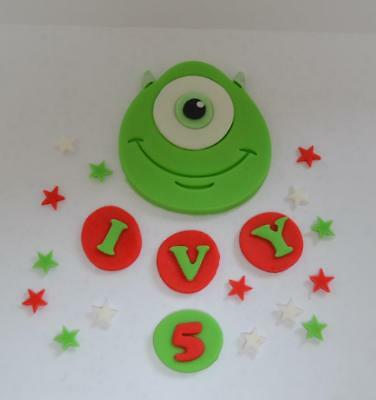 Handmade Edible Mike, Monsters Inc Style, Cake Topper, Birthday