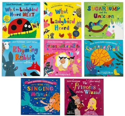 NEW What the Ladybird Heard 8 Picture Book Set by Julia Donaldson & Lydia Monks