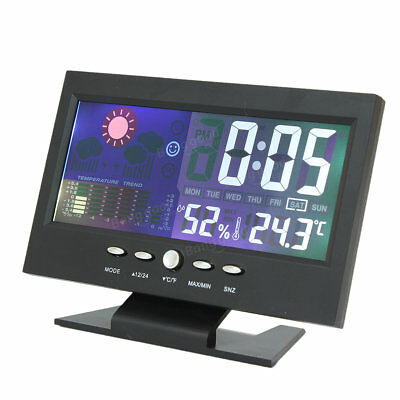 iMars ™ Color LCD Screen Calendar Digital Clock Car Thermometer Weather Forecast
