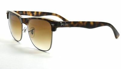 ce7dc4a6705 Ray-Ban Oversize Clubmaster 4175 878 51 Matte Tortoise   Brown Gradient Lens
