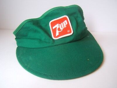 fba0258d87afb VINTAGE 7 UP Patch Visor Green Snapback Hat Cap -  20.12