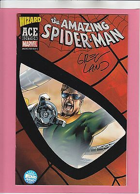Amazing Spider-Man #3 Wizard ACE Signed Greg Land FREE PRIORITY INSURED USA SHIP