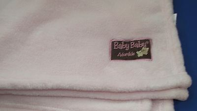 Blankets and Beyond Pink fleece baby baby adorable brown patch girl blanket SPOT