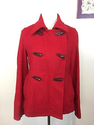 7f581f50391b4 Old Navy Toggle Double Breasted Wool Blend Pea Coat - Red - Women s Medium