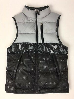Nike Alliance Reversible Gray Puffer Vest / Youth Boys Size Small