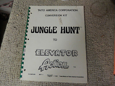 JUNGLE HUNT TO ELEVATOR ACTION TAITO     video game manual