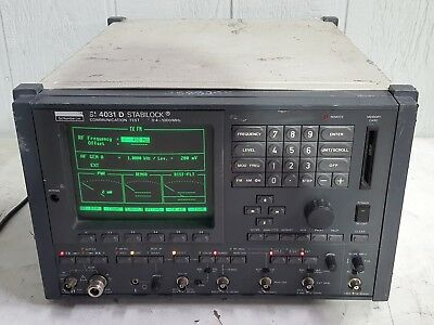 Schlumberger SI 4301 D Stabilock Communication Test Set 400kHz to 1GHz