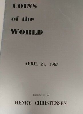 Coins Of The World Large Mexican Collection April 1965 Henry Christensen Auction