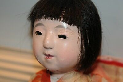 "Japenese Doll 15"" Inch Rare Beauty Asian Vintage Antiques Japan Dolls (1) Old.."