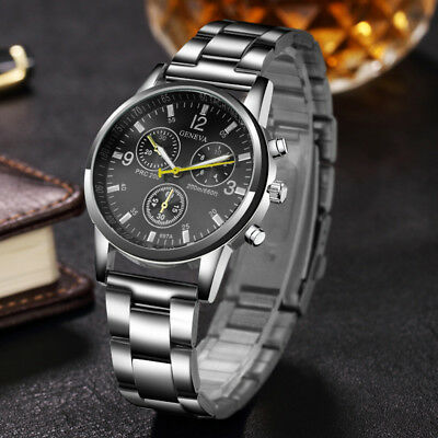 2018 New mens watches top luxury brand GENEVA Business Quartz wristwatch