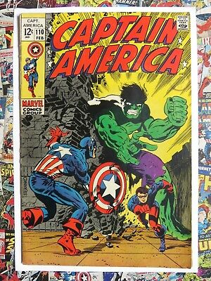Captain America #110 - Feb 1969 - Origin - Fn- (5.5) Cents!