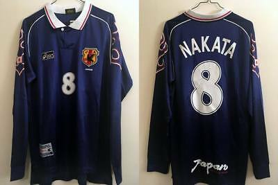 Maillot Japon 1998 / Nakata 8 / World Cup France 98 / J.League (japan jersey)