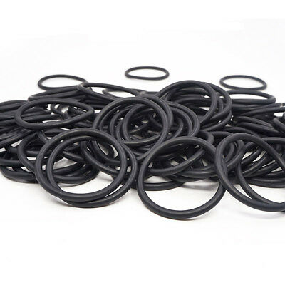 50/100pcs 2mm Oil Resistant NBR Nitrile Butadiene Rubber O-Ring OD8-80mm Sealing