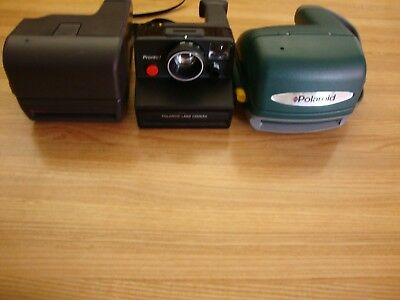 Lot Of 3 Vintage Polaroid Instant Camera 2 Uses 600 Film And 1 Uses Sx-70 Film
