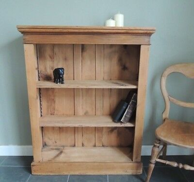 Lovely  Edwardian   Solid  Pine  Bookcase / Shelves / Storage  *Great condition*