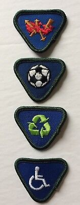 Boy Scouts of Canada - Wolf Cub - Lot of 4 Embroidered Proficiency Patch/ Badge