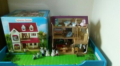 sylvanian families boxed and complete oakwood Manor, furniture, figures bundle