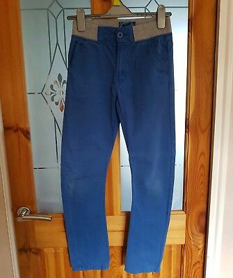 Blue Zoo blue chino trousers age 10