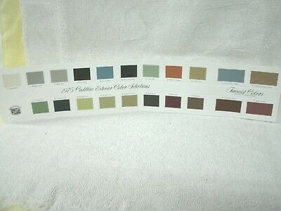 1975 Cadillac -Exterior Color Selections Chart--Color Chip--Excellent Condition-