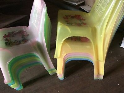 5 Plastic Kids Chairs