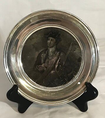 "1972 S. Kirk & Son Collection Sterling Silver "" Young George Washington"" Plate"