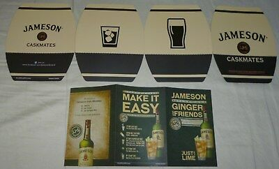 Jameson Whiskey Rare edition promo adverting cards lot set Caskmates / Ginger