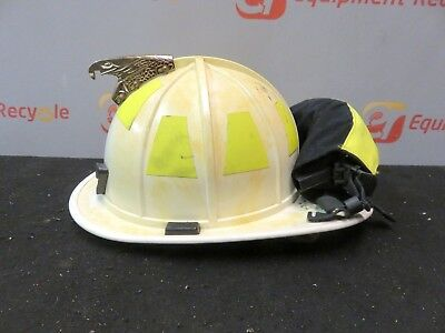 Morning Pride HT-BF2-HDO Firefighters Helmet White Goggles Turnout Neck Cairns