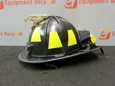 Morning Pride Fire Helmet Black HT-BF2-HDO Firefighter Eagle Goggles