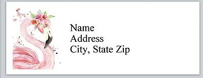 Personalized Address Labels Pink Flamingo Buy 3 get 1 free (bx 788)