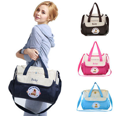 Waterproof Large Maternity Mummy Baby Nappy Changing Bags Diaper Hospital Bag
