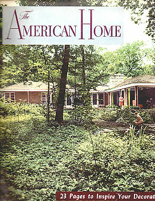 August 1945 The American Home Magazine-Architectural-Great Vintage Ads-Rare