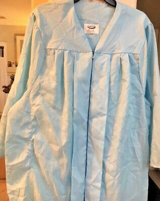 "NEW JOSTENS GRADUATION JUDGE CLERGY CHOIR ROBE GOWN 4/'10/"" 5/'0/""  ZIP UP FRONT"