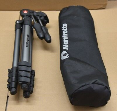 Used Manfrotto MKCOMPACTADV-BK Compact Advanced Aluminum Tripod Black