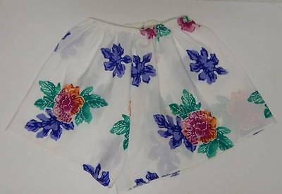 Vintage Lucie Ann II Floral Tap Pants Sleep Shorts Small USA