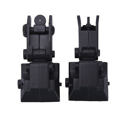 2Pcs Tactical Folding Front Rear Flip Up Backup Sights Set Hunting AccessoriesSN