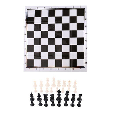 Plastic Medieval Chess Pieces International Chess Game Portable Chess Set