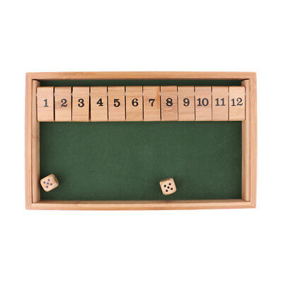 Wooden Table Board Shot the Box 1-12 Number Game Kit for Kids Education Toy