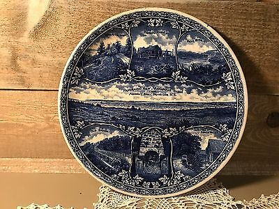 Antique The Rowland & Marsellus Co Shaffordshire England Flow Blue Plate