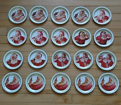Vintage Santa Claus Coca-Coca Coasters - Set of 20 - Christmas Decor