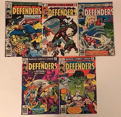 Large Lot Of Old Marvel Comics The Defenders, High Grade